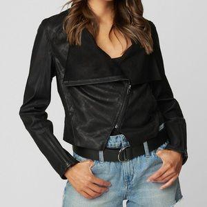 Blank NYC Black Venom Coated Jacket NWT